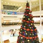 Shopping center ready for Christmas — Stock Photo