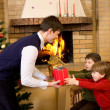 Receiving gifts — Stock Photo