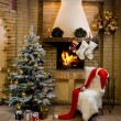 Stockfoto: Christmas room