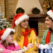 Celebrating Christmas — Stock Photo #11148480