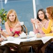 In the cafe — Stock Photo