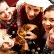 Party with friends - Stock Photo
