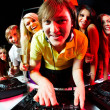 Deejay and friends — Stock Photo
