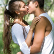 Stock Photo: Tender kiss