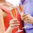 Flutes in hands — Stock Photo #11149408