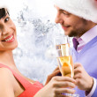 Woman with champagne — Stock Photo #11149418