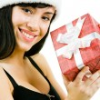 Female with giftbox - Stock Photo