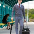 Walking man — Stock Photo