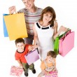 family shopping — Stock Photo