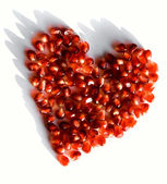 Pomegranate heart — Stock Photo