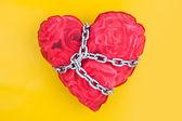 Chained heart — Foto de Stock