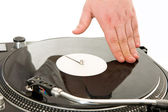 Spinning vynil disc — Stock Photo