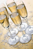 Bubbly champagne — Stock Photo