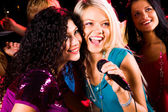 Singing girls — Stock Photo