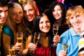 Friends partying — Stock Photo