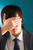 Hiding face — Stock Photo