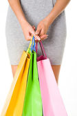 Holding bags — Stock Photo