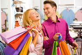 During shopping — Stock Photo