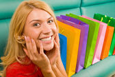 Glädje av shopping — Stockfoto
