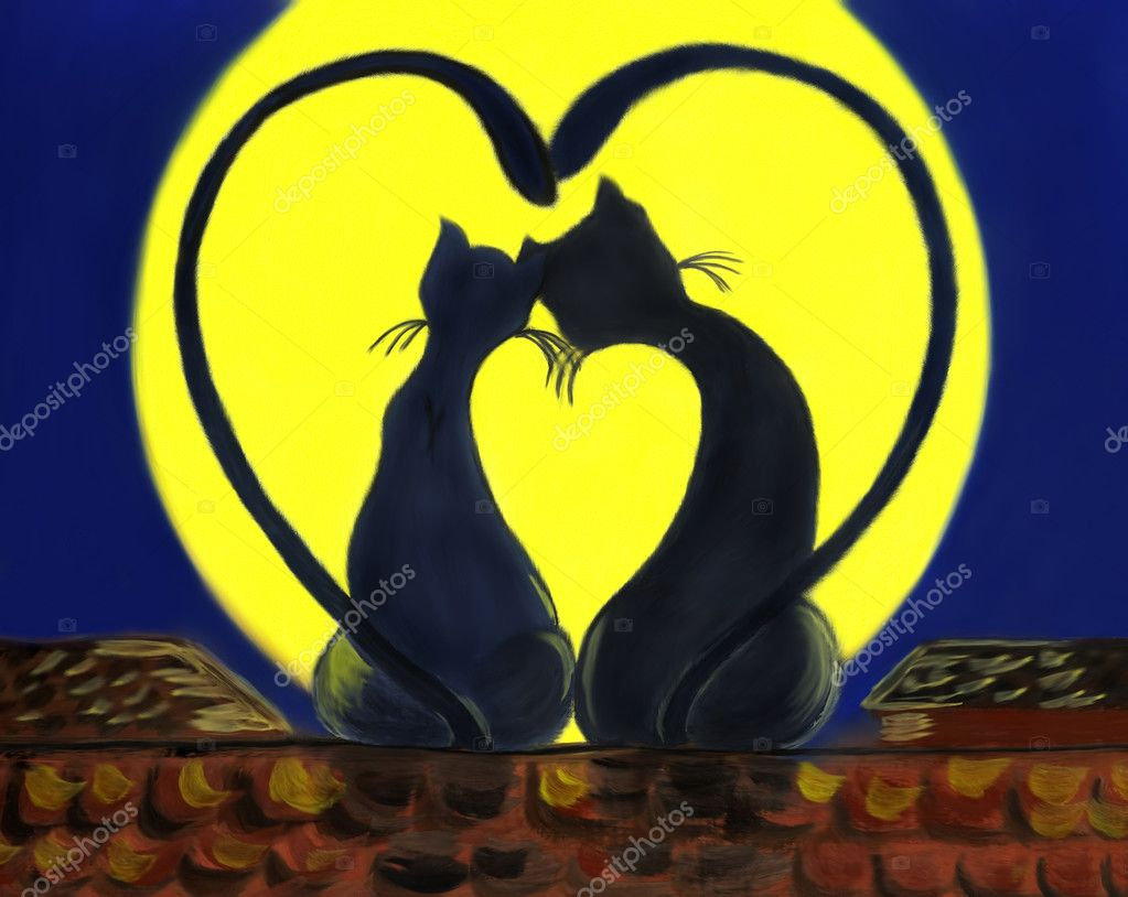 i Love You Cat Pictures Picture of Two Black Cats