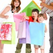 Joyful shopping - Foto Stock