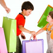 Little shoppers — Stockfoto