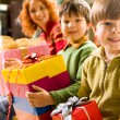 Boy with giftbox — Stock Photo #11177012