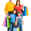 Family with gifts - Stock Photo