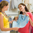 In the clothing department — Stock Photo