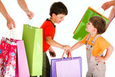 Little shoppers — Foto de Stock