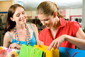 Looking into bags — Stock Photo