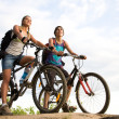 Stock Photo: Two cyclists