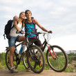Stock Photo: Amorous bikers