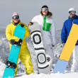 Royalty-Free Stock Photo: Group of snowboarders