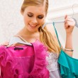 Selecting clothes — Stock Photo