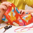 Wrapping gifts — Foto de Stock