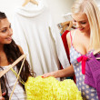 Selecting clothes - Stockfoto