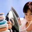 Reluctant to iron — Stock Photo #11217029