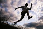 Silueta sportovce — Stock fotografie