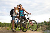 Amorous bikers — Stock Photo