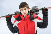 Young skier — Stock Photo