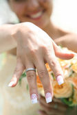 Brides hand — Stock Photo