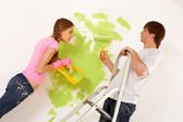Painting wall — Stock Photo