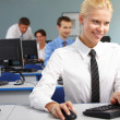 Working blonde — Stock Photo #11241202