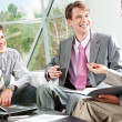 Stock Photo: Working conversation