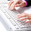 Typing work — Stock Photo