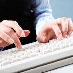 Typing work — Stock Photo