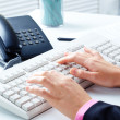 Typing documents — Stock Photo