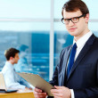 Smart businessman — Stock Photo