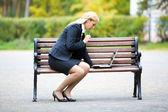занятая женщина — Стоковое фото
